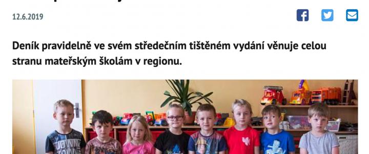 Michálkovická školka v Moravskoslezském Deníku